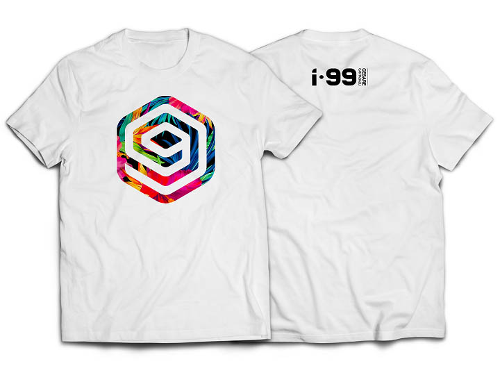I-99 FLOWER T-Shirt Color: White