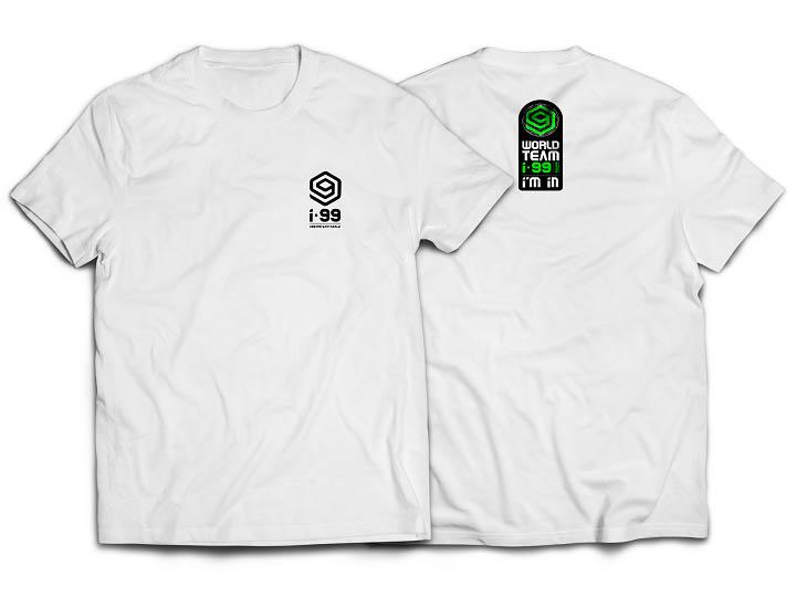 I-99 WORLD TEAM BACK T-Shirt Color: White