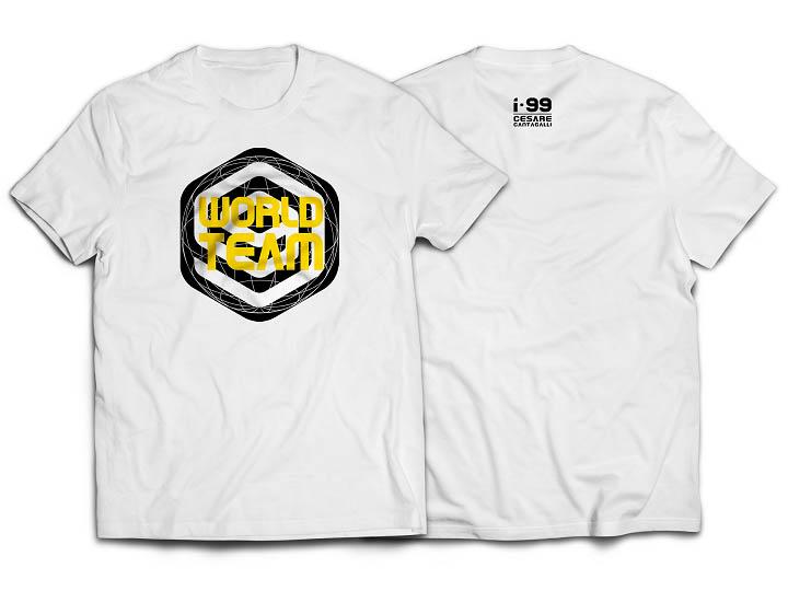 I-99 WORLD TEAM CHEST T-Shirt Color: White